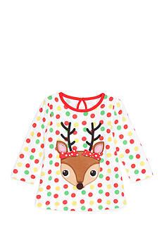 Nursery Rhyme Polka Dot Reindeer Top Baby/Infant Girl