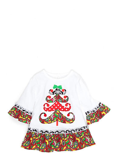 Nursery Rhyme® Solid Jersey Knit Print Top Baby/Infant Girl