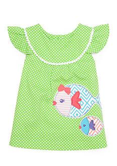 Nursery Rhyme Polka Dot Print and Fish Tunic