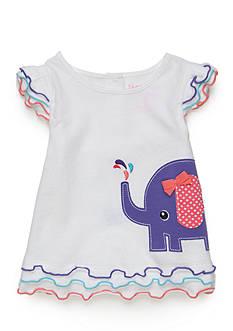 Nursery Rhyme Ruffle Sleeve Elephant Tee