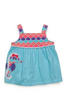 Nursery Rhyme Babydoll Seahorse Top