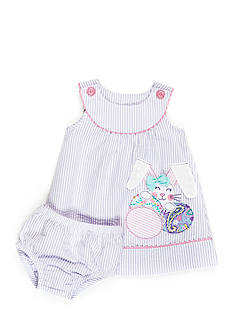 Nursery Rhyme Seersucker Bunny Dress