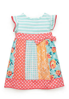 Nursery Rhyme Printed Bow Dress