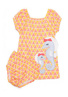 Nursery Rhyme 2-Piece Seahorse Dress Set