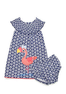 Nursery Rhyme 2-Piece Flamingo Dress Set