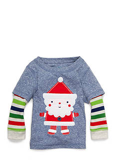 Nursery Rhyme Jersey Long Sleeve Santa Tee Infant/Baby Boys