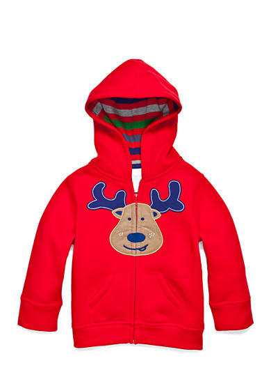 Nursery Rhyme® Reindeer Zip Hoodie Infant/Baby Boys