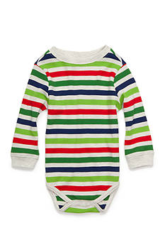 Nursery Rhyme Striped Thermal Bodysuit Infant/Baby Boys