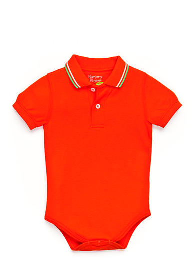 Nursery Rhyme® Solid Polo Bodysuit
