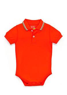 Nursery Rhyme Solid Polo Bodysuit