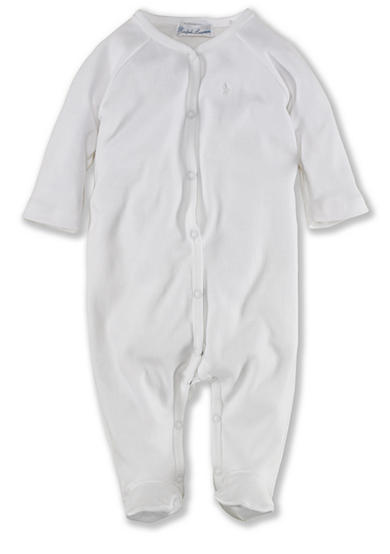 Ralph Lauren Childrenswear Solid Coverall - Newborn