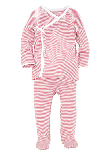 Ralph Lauren Childrenswear 2-Piece Striped Kimono Set