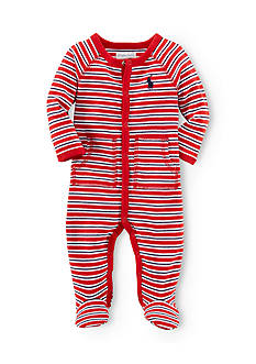 Ralph Lauren Childrenswear Bold Striped Big Pony Coverall