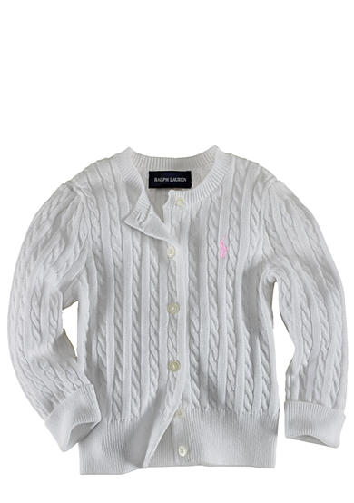 Ralph Lauren Childrenswear Infant Girl White Cardigan