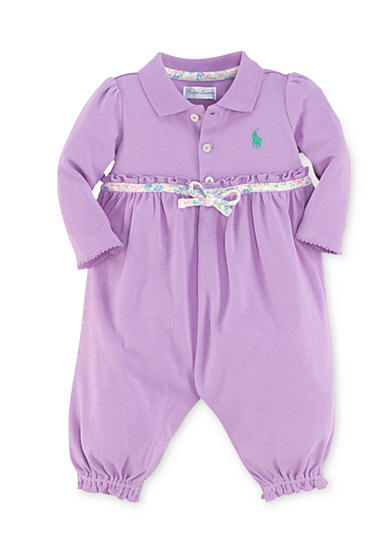 Ralph Lauren Childrenswear Ruffles-and-Bow Coverall