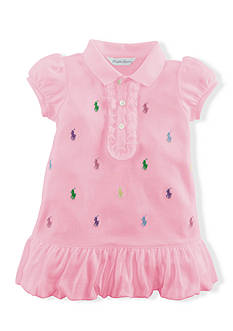 Ralph Lauren Childrenswear Embroidered Pony Ruffle Dress and Bloomer