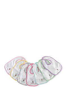 Ralph Lauren Childrenswear 7-Piece Day-Of-The-Week Bib Set