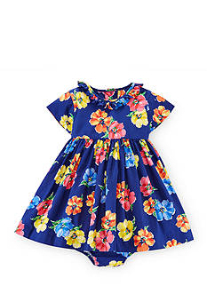 Ralph Lauren Childrenswear 2-Piece Fit-and-Flare Floral Dress and Bloomer Set