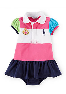 Ralph Lauren Childrenswear 2-Piece Cotton Mesh Dress and Bloomer Set