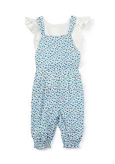 Ralph Lauren Childrenswear Floral Overall Set - Baby/Infant Girl