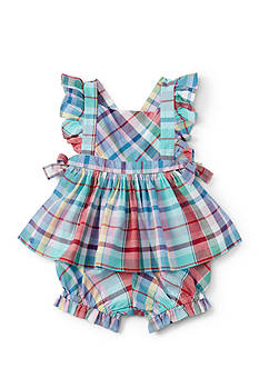 Ralph Lauren Childrenswear Plaid Short Set