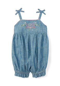 Ralph Lauren Childrenswear Chambray One Piece-Shortall