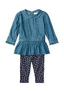 Ralph Lauren Childrenswear 2-Piece Quincy Peplum