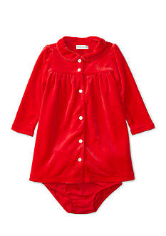 Ralph Lauren Childrenswear Velour Solid Knit Dress Baby/Infant Girls