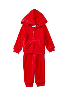 Ralph Lauren Childrenswear Velour 2-Piece Hoodie and Pant Set Baby/Infant Girls