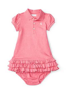 Ralph Lauren Childrenswear Ruffle Dress Baby/Infant GIrl