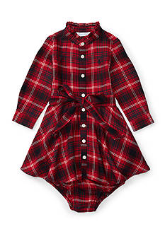 Ralph Lauren Childrenswear Flannel Shirt Dress Baby/Infant Girls