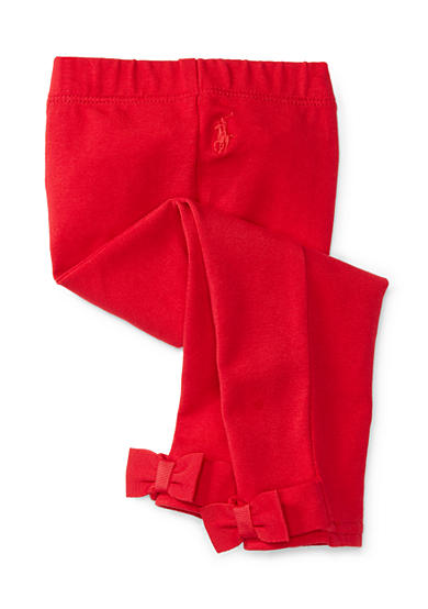 Ralph Lauren Childrenswear Jersey Leggings with Bows Infant/Baby Girls