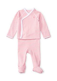 Ralph Lauren Childrenswear Striped Kimono Top & Pant Set Baby Girls