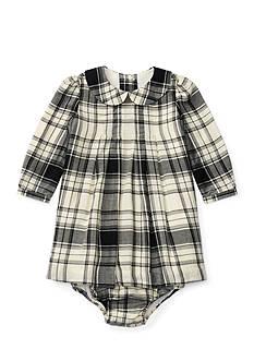 Ralph Lauren Childrenswear Plaid Pintuck Dress Infant/Baby Girls