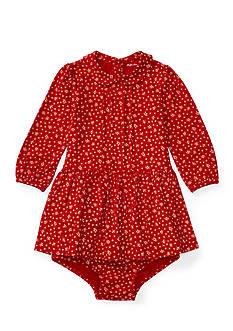 Ralph Lauren Childrenswear Pintuck Jersey Knit Dress