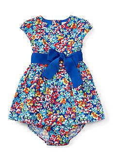 Ralph Lauren Childrenswear Floral Cotton Dress & Bloomer Baby Girl