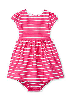 Ralph Lauren Childrenswear Striped Cotton Dress and Bloomers Baby Girl