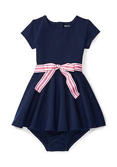 Ralph Lauren Childrenswear Ponte Dress & Bloomer Baby Girl