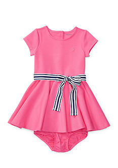 Ralph Lauren Childrenswear Ponte Dress & Bloomer Baby Girl