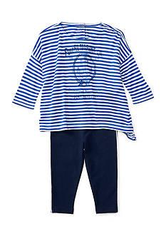 Ralph Lauren Childrenswear Striped Boxy Top & Leggings Set Baby Girl