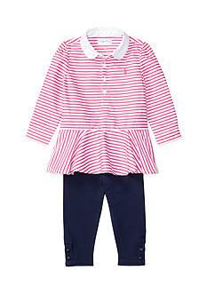 Ralph Lauren Childrenswear Jodhpur Jersey Legging Set Baby Girl