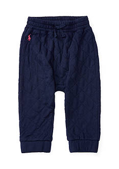 Ralph Lauren Childrenswear Quilted Fleece Jogger Pant Baby Girl