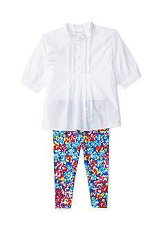 Ralph Lauren Childrenswear Pintucked Tunic and Leggings Set Baby Girl