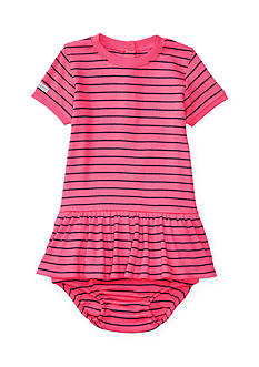 Ralph Lauren Childrenswear Striped Knit Dress & Bloomer Baby Girls