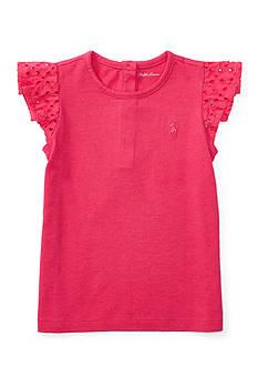 Ralph Lauren Childrenswear Cotton Jersey Flutter Top