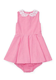Ralph Lauren Childrenswear Gingham Sleeveless Dress