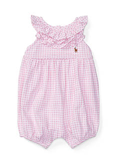 Ralph Lauren Childrenswear Mesh Gingham Shortall