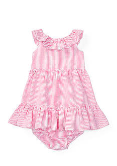 Ralph Lauren Childrenswear 2-Piece Ruffle Seersucker Dress Set
