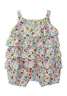 Ralph Lauren Childrenswear Printed Cotton Tiered Shortall