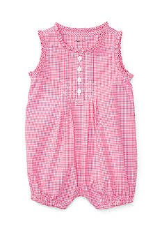 Ralph Lauren Childrenswear Gingham Sleeveless Romper